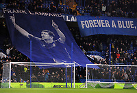 Football - 2018 / 2019 EFL Carabao (League) Cup - Fourth Round: Chelsea vs. Derby County<br /> <br /> A giant banner of Frank Lampard is unveiled before the match, on his return to the ground as Derby Manager, at Stamford Bridge.<br /> <br /> COLORSPORT/ANDREW COWIE
