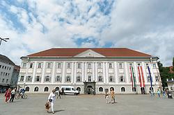 THEMENBILD - Rathaus in Klagenfurt. Klagenfurt ist die Landeshauptstadt von Kärnten. Aufgenommen am 09.07.2015 in Klagenfurt am Wörthersee, Österreich // Cityhall in Klagenfurt in carinthia. Austria on 2015/07/09. EXPA Pictures © 2015, PhotoCredit: EXPA/ Michael Gruber
