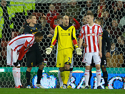 STOKE-ON-TRENT, ENGLAND - Boxing Day Wednesday, December 26, 2012: Liverpool's goalkeeper Jose Reina in action against Stoke City during the Premiership match at the Britannia Stadium. (Pic by David Rawcliffe/Propaganda)