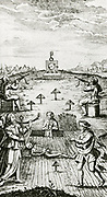 'Eighth key of Basil Valentine, symbolising the purification of metals through death and resurrection. From '' Fr Basilii Valentini Benedictiner Ordens Chymische Schriften'', Leipzig, 1760?'