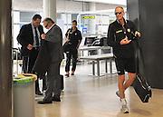 Glasgow, 28 Settembre 2011.UEFA Europa League 2011/2012  2^ giornata gruppo I..Udinese vs Celtic Glasgow..Nella Foto: I giocatori dell'Udinese in partenza dall'aeroporto di Ronchi. Francesco Guidolin..© foto di Simone Ferraro