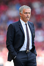 Manchester United manager Jose Mourinho looks frustrated - Rogan Thomson/JMP - 14/08/2016 - FOOTBALL - Vitality Stadium - Bournemouth, England - Bournemouth v Manchester United - Premier League Opening Weekend.