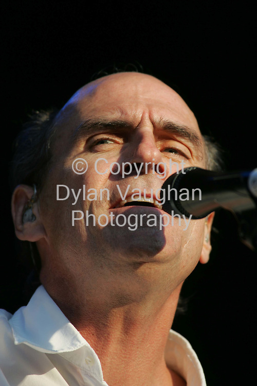 18/7/2004.James Taylor pictured at the Smithwicks Source Festival at Nowlan Park Kilkenny last night..Picture Dylan Vaughan