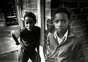 Two Young Boys hanging out at Atlanta's Techwood Homes public housing project during the period of The Atlanta Child Murders.