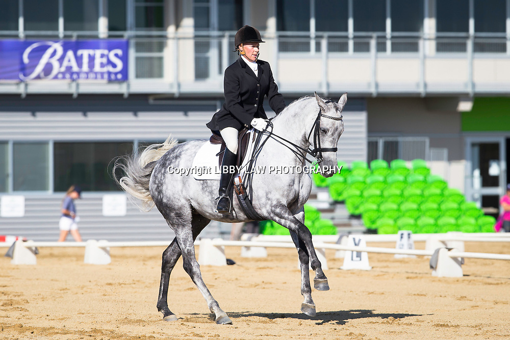 NZL-Joanne Brown (AMORETTE) LEVEL 5: Hatton Horsefloats North Island Challenge Final: 2015 NZL-Bates NZ Dressage Championships, Manfeild Park - Feilding (Thursday 5 March) CREDIT: Libby Law COPYRIGHT: LIBBY LAW PHOTOGRAPHY