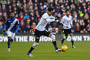 Derby County midfielder Tom Ince on the ball during the Sky Bet Championship match between Derby County and Birmingham City at the iPro Stadium, Derby, England on 16 January 2016. Photo by Aaron Lupton.