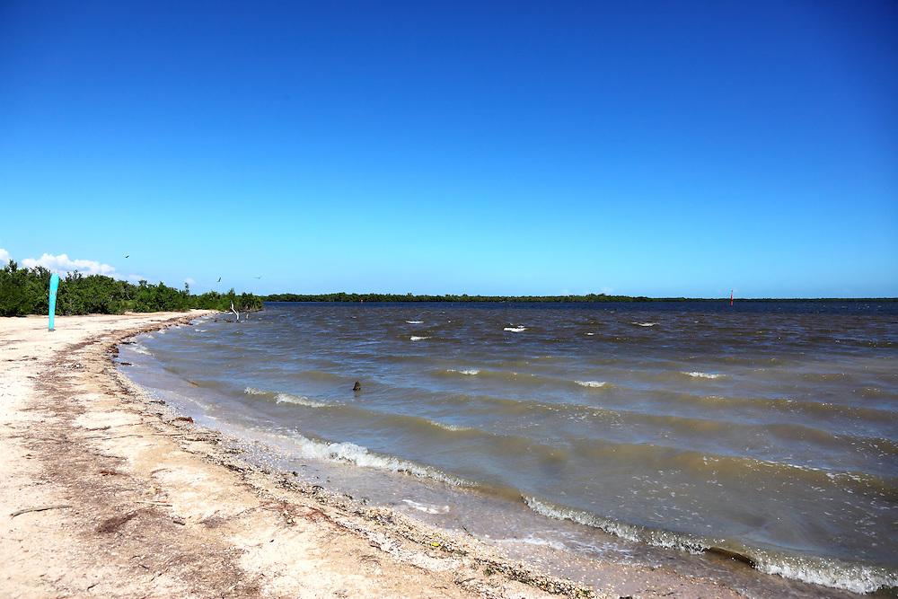Shoreline in La Coloma, Pinar del Rio, Cuba.