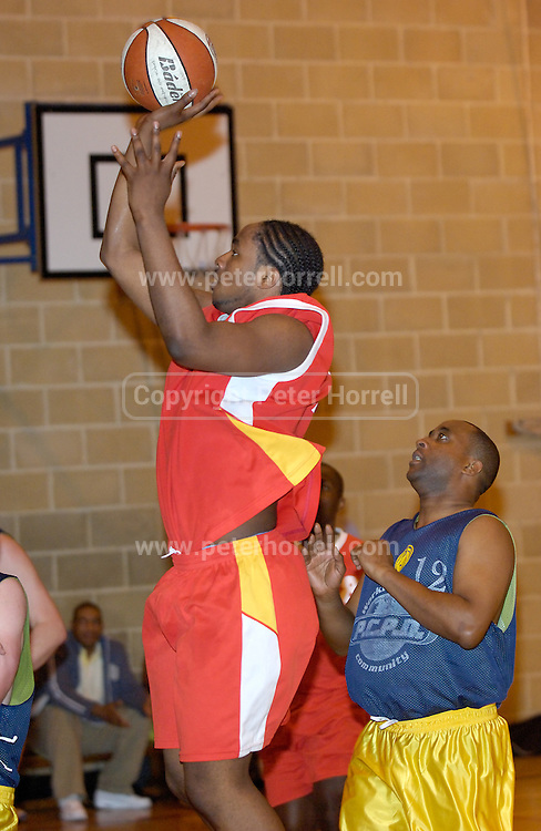 Thursday 26th April, 2007. Craig Pringle in action during Barking and Dagenham Erkenwald's EMBL Play Off semi-final against Lakers at Sydney Russell. Erkenwald won the game 90 - 69.