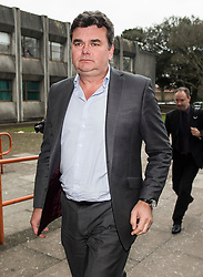 © Licensed to London News Pictures. 23/02/2018. Ilford, UK. Former BHS owner DOMINIC CHAPPELL arrives at Barkingside Magistrates' Court in Ilford, London, where he is due to be sentenced for not disclosing information to The Pensions Regulator. Chappell, who was charged with neglecting to hand over vital documents relating to the purchase of BHS, paid Sir Philip Green for £1 for the retail store in 2015. It subsequently crashed, with 11,000 jobs lost, leaving a pensions black hole of over £570m. Photo credit: Ben Cawthra/LNP