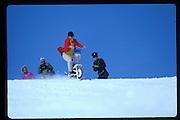 Cosmo Hulton, Dangerous Sports Club ski race. St. Moritz. 1984.<br />© Copyright Photograph by Dafydd Jones<br />66 Stockwell Park Rd. London SW9 0DA<br />Tel 0171 733 0108