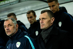 Borut Mavric, Milivoje Novakovic during the 2020 UEFA European Championships group G qualifying match between Slovenia and Latvia at SRC Stozice on November 19, 2019 in Ljubljana, Slovenia. Photo by Vid Ponikvar / Sportida