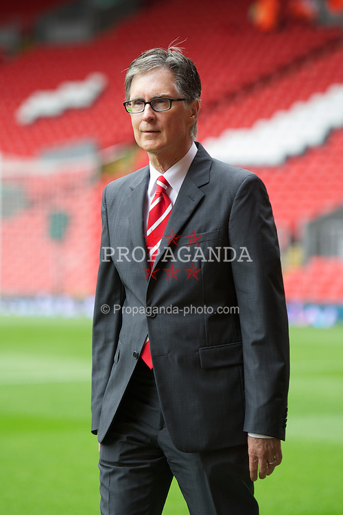 LIVERPOOL, ENGLAND - Saturday, August 13, 2011: Liverpool's owner John W. Henry takes a walk around Anfield before the Premiership match against Sunderland at Anfield. (Pic by David Rawcliffe/Propaganda)