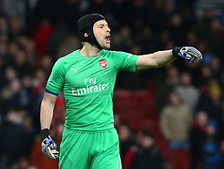 December 19, 2018 - London, England, United Kingdom - London, UK, 19 December, 2018.Petr Cech of Arsenal .during Carabao Cup Quarter - Final between Arsenal and Tottenham Hotspur  at Emirates stadium , London, England on 19 Dec 2018. (Credit Image: © Action Foto Sport/NurPhoto via ZUMA Press)