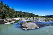 Braided Nooksack River, Whatcom County, Washington, USA.