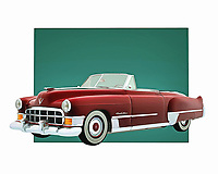 Cadillac is a car that takes people back to a simpler time. This Cadillac Deville is also a convertible, which in turn brings to mind the thrill and lure of a long road trip on a gorgeous day. This digital painting can make for a fine addition to any personal or professional space you have .<br />