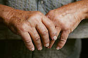 Farmer hands. Photographed by editorial photographer Nathan Lindstrom
