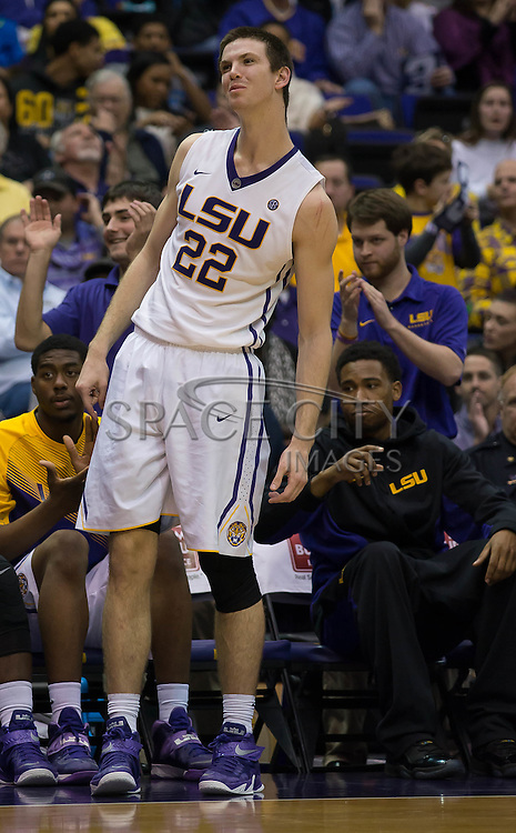 Baton Rouge, Louisiana-Jan 17, 2015.<br /> <br /> LSU's Darcy Malone looks on during a crucial call in the second half. As LSU was defeated by Texas A&amp;M 67-64.<br /> <br /> Photo By: J.Hicks/ Space City Images