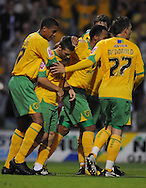 Yeovil - Tuesday, August 11th, 2009: Wes Hoolahan of Norwich City celebrates the opening goal during the Carling Cup 1st Round match at Yeovil. (Pic by Alex Broadway/Focus Images)