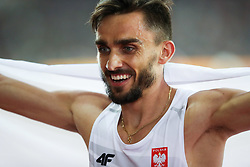 London, August 08 2017 . Adam Kszczot, Poland, runner up in the men's 400m final on day five of the IAAF London 2017 world Championships at the London Stadium. © Paul Davey.