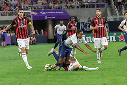 July 31, 2018 - Minneapolis, Minnesota, U.S - Milan's JOSE MAURI fouls Tottenham attacker KYLE WALKER-PETERS with a boot to the mid-section late in the match. (Credit Image: © Keith R. Crowley via ZUMA Wire)