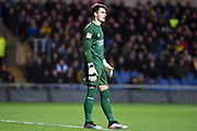 Shrewsbury Town defender goalkeeper (on loan from Bristol City) Max O'Leary (25) during the EFL Sky Bet League 1 match between Oxford United and Shrewsbury Town at the Kassam Stadium, Oxford, England on 7 December 2019.