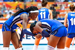 19-10-2018 JPN: Semi Final World Championship Volleyball Women day 18, Yokohama<br /> China - Netherlands / Paola Ogechi Egonu #18 of Italy, Miryam Fatime Sylla #17 of Italy