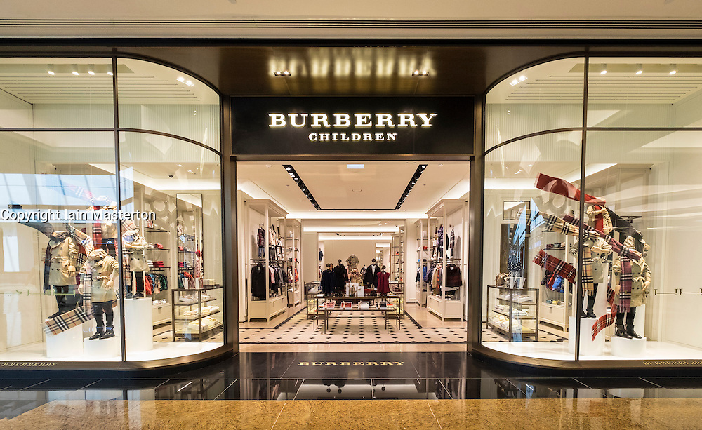 View of Burberry Children store in Mall of the Emirates in Dubai United Arab Emirates