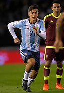 Argentina's forward Paulo Dybala during their 2018 FIFA World Cup qualifier football match against Venezuela,  at Monumental stadium, in Buenos Aires, on September 5, 2017.