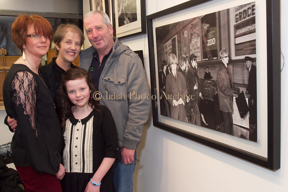 7th March 2013..Rolling Stones Semi - Centenary Exhibition unveiled at Zozimus Gallery...A large gathering attended the official opening of 'Charlie is my Darling' by Niall Stokes, Editor of Hotpress Magazine at Gallery Zozimus, 56 Francis Street, Dublin 8 today (Thursday 7th March). 'Charlie is my Darling' is a photographic exhibition of the Rolling Stones - Ireland 1965 from the Lensmen Collection will continue at the Zozimus until Saturday 23rd March next. Also included will be a selection of pictures depicting life in Ireland the 1950s and 1960s..The Exhibition at Gallery Zozimus includes pictures of the Rolling Stones in their original line-up as they started their career in concert in Dublin and Belfast. This visit also coincided with the bank's release of ?(I Can't Get No) Satisfaction? hit which soared to # 1 on the charts in Ireland, England and USA, and became the international anthem of an entire generation. The exhibition includes pictures of the Stones as a group - Mick Jagger, Keith Richards, Charlie Watts, Brian Jones and Bill Wyman as well as selected individual shots..'Airport Bus 1', the highlight of the exhibition at Gallery Zozimus, was chosen as the front cover for a new DVD / Blu-rays issued to celebrate the 50th Anniversary of the Rolling Stones. Other photographs from the archive were included in the film The Rolling Stones Charlie is my Darling Ireland 1965 - by ABKCO Films, a meticulously restored version of this first-ever, legendary, but never released film which was premiered in the New York Film Festival last November.Vincent Kelly, Director of Gallery Zozimus, in speaking at the opening, said: ?These Images are Lensmen works of art. Without culturally historic photographs, our past and our culture would be lost. We are very grateful to Sean Walsh and Susan Kennedy for working with Gallery Zozimus to put this great collection together and so enable us to share them with a greater audience..Gallery Zozimus is open from Monday - Friday, 1