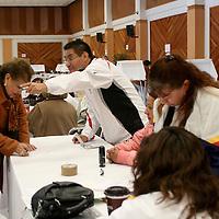 TOLUCA, Mex.-  Maestros del estado acudieron a los diferentes moludos de votación pera elegir el nuevo líder del Síndicato de Maestros al Servicio del Estado de México (SMSEM. Agencia MVT / José Hernández. (DIGITAL)<br /> <br /> NO ARCHIVAR - NO ARCHIVE
