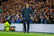 FC Porto manager, Sergio Conceicao shouts at his players during the Group G Europa League match between Rangers FC and FC Porto at Ibrox Stadium, Glasgow, Scotland on 7 November 2019.