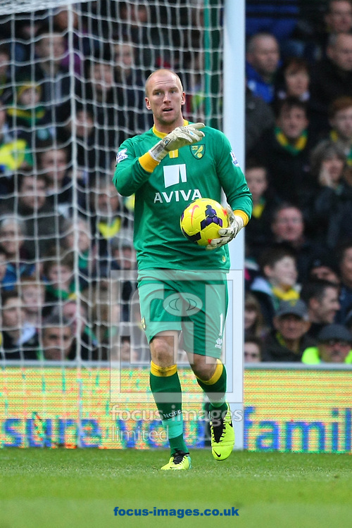 Picture by Paul Chesterton/Focus Images Ltd +44 7904 640267<br /> John Ruddy of Norwich during the Barclays Premier League match at Carrow Road, Norwich.