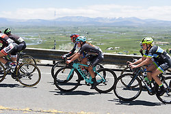 Peloton above the Nevada farmland at Amgen Breakaway from Heart Disease Women's Race empowered with SRAM (Tour of California) - Stage 2. A 108km road race in South Lake Tahoe, USA on 12th May 2017.