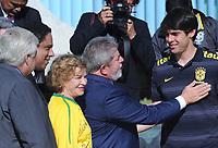 20100526: BRASILIA, BRAZIL - Brazilian President Luiz Inacio Lula da Silva welcomes Brazil National Football Team at Alvorada Palace. In picture: Lula da Silva (C) and his wife Marisa Leticia (L) with player Kaka (R). PHOTO: CITYFILES