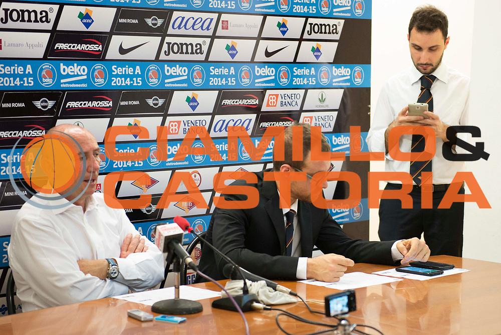 DESCRIZIONE : Roma Lega A 2014-15 <br /> Acea Virtus Roma - Acqua Vitasnella Cantu<br /> GIOCATORE : Luca Dalmonte Francesco Carotti Fabrizio Cicciarelli  <br /> CATEGORIA : post game conferenza stampa<br /> SQUADRA : Acqua Vitasnella Cantu<br /> EVENTO : Campionato Lega A 2014-2015 <br /> GARA : Acea Virtus Roma - Acqua Vitasnella Cantu<br /> DATA : 10/05/2015<br /> SPORT : Pallacanestro <br /> AUTORE : Agenzia Ciamillo-Castoria/N. Dalla Mura<br /> Galleria : Lega Basket A 2014-2015  <br /> Fotonotizia : Roma Lega A 2014-15 Acea Virtus Roma - Acqua Vitasnella Cantu