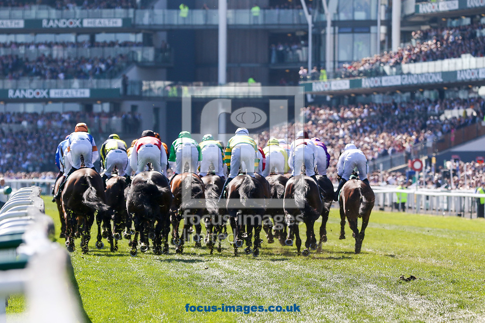 Gaskells Handicap Hurdle on Grand National Day of the Randox Grand National Festival at Aintree Racecourse, Liverpool<br /> Picture by Mark Chappell/Focus Images Ltd +44 77927 63340<br /> 08/04/2017