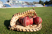 Practice balls before day 3 of the Specsavers County Champ Div 2 match between Glamorgan County Cricket Club and Leicestershire County Cricket Club at the SWALEC Stadium, Cardiff, United Kingdom on 18 September 2019.