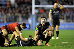 Francois Louw of Bath Rugby looks dejected after the match - Mandatory byline: Patrick Khachfe/JMP - 07966 386802 - 10/01/2016 - RUGBY UNION - Stade Mayol - Toulon, France - RC Toulon v Bath Rugby - European Rugby Champions Cup.