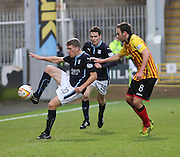 Dundee's Jim McAlister and Partick Thistle's Stuart Bannigan- Partick Thistle v Dundee - SPFL Premiership at Dens Park<br /> <br />  - &copy; David Young - www.davidyoungphoto.co.uk - email: davidyoungphoto@gmail.com