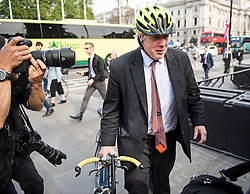 © Licensed to London News Pictures. 21/05/2019. London, UK. BORIS JOHNSON MP is seen arriving at Parliament in Westminster, London. On Thursday UK citizens will controversially go to the polls in European elections, three years after a majority voted to leave the EU. Photo credit: Ben Cawthra/LNP