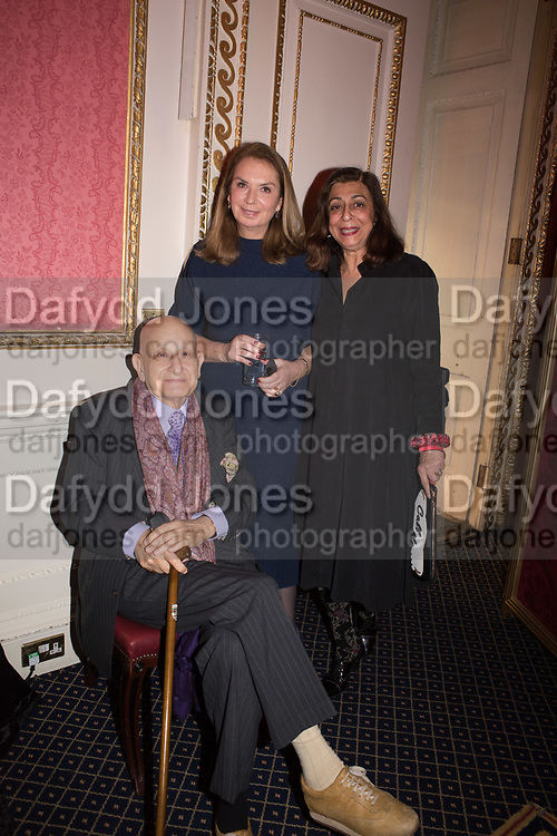 NAIM ATTALLAH, NANCY SLADEK, NADIRA NAIPAUL, Literary Review Christmas party and Bad SEx Awards. In and Out club. St. James Sq. London. 3 December 2018