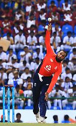 October 20, 2018 - Kandy, Sri Lanka - England cricketer Adil Rashid delivers a ball during the 4th One Day International cricket match between Sri Lanka and England at the Pallekele International Cricket Stadium,Kandy  Sri Lanka. Saturday 20 October 2018  (Credit Image: © Tharaka Basnayaka/NurPhoto via ZUMA Press)