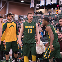 1st year forward Carter Millar (13) of the Regina Cougars in action during the home game on January  28 at Centre for Kinesiology, Health and Sport. Credit: Arthur Ward/Arthur Images