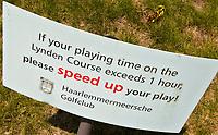 VIJFHUIZEN - Haarlemmermeersche Golf Club Lynden Hole 4.vertragend, doorspelen, langzaam spel,  COPYRIGHT KOEN SUYK