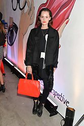 CHARLOTTE DE CARLE at the launch of The Lulu Perspective to celebrate 25 years of Lulu Guinness held at 74a Newman Street, London on 13th September 2014.