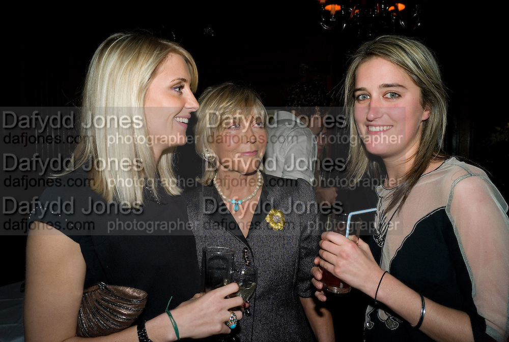 LADY EMILY COMPTON; ROSIE MARCHIONESS OF NORTHAMPTON; VIOLET VON WESTENHOLZ. The Tatler Little Black Book party. Tramp. 40 Jermyn St. London SW1 *** Local Caption *** -DO NOT ARCHIVE-© Copyright Photograph by Dafydd Jones. 248 Clapham Rd. London SW9 0PZ. Tel 0207 820 0771. www.dafjones.com.