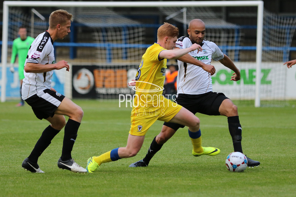 AFC Wimbledon midfielder Alfie Eagan (28) during the Pre-Season Friendly match between Dover Athletic and AFC Wimbledon at Crabble Athletic Ground, Dover, United Kingdom on 12 July 2016. Photo by Stuart Butcher.