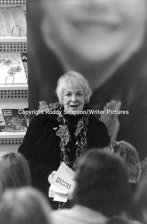 Liz Lochhead (b.1947), Scottish poet and dramatist, photographed at the Scottish Poetry Library in Edinburgh on March 20, 2007.