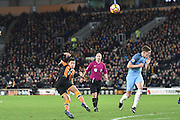 Hull City midfielder Jake Livermore (14) takes shot at goal  during the Premier League match between Hull City and Manchester City at the KCOM Stadium, Kingston upon Hull, England on 26 December 2016. Photo by Ian Lyall.