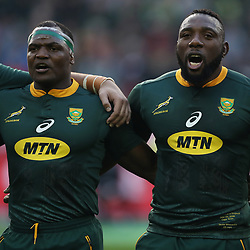 Chiliboy Ralepelle with Tendai Mtawarira of South Africa during the 2018 Castle Lager Incoming Series 3rd Test match between South Africa and England at Newlands Rugby Stadium,Cape Town,South Africa. 23,06,2018 Photo by (Steve Haag JMP)